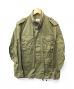 Rags McGREGOR(ラグス マクレガー)の古着「バックプリントミリタリージャケット」|グリーン