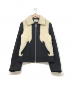 Maison Margiela10(メゾンマルジェラ10)の古着「ボア切替ジャケット」|ブラック