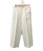 ()の古着「センタープレスパンツ」|ホワイト