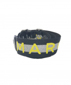 Marc by Marc Jacobs()の古着「THE LOGO WEBBING STRAP」 ブラック×イエロー