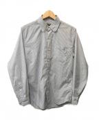 narifuri(ナリフリ)の古着「パターンイージーケアコミュートシャツ」 ホワイト×ネイビー