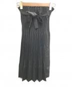 me ISSEY MIYAKE(ミー イッセイミヤケ)の古着「プリーツスカート」|ブラック