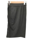 ()の古着「サイドジップスカート」|ブラック