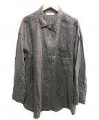 Mila Owen(ミラオーウェン)の古着「シワ加工フレンチリネンシャツ」 ブラック