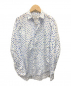 Frank&Eileen(フランクアンドアイリーン)の古着「ハートプリントシャツ」 ブルー×ホワイト