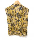 TOMORROW LAND collection(トゥモローランドコレクション)の古着「ノースリーブブラウス」|ベージュ×ネイビー