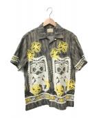 ()の古着「アロハシャツ」 グレー