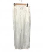 ATON(エイトン)の古着「GATHRED PANTS」 ホワイト