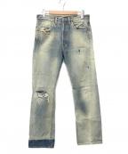 LEVI'S VINTAGE CLOTHING()の古着「ダメージ加工デニムパンツ」|インディゴ