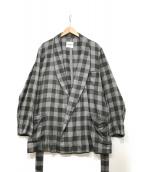 ()の古着「long robe shirt」|グレー