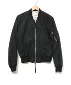 ()の古着「シェルコットンMA-1ジャケット」 ブラック