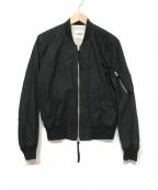 TAKAHIROMIYASHITA TheSoloIst.(タカヒロミヤシタザソロイスト)の古着「シェルコットンMA-1ジャケット」 ブラック