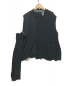 ()の古着「dystopia sweater」 ブラック