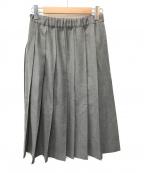 charpentier de vaisseau()の古着「ウールプリーツスカート」|グレー