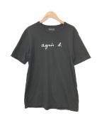 agnes b homme(アニエスベーオム)の古着「ロゴTシャツ」 ブラック