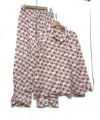 NUMBER (N)INE(ナンバーナイン)の古着「パジャマセットアップ」 ホワイト×レッド