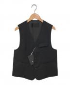 TARO HORIUCHI(タロウホリウチ)の古着「ウール混ジレベスト」 ブラック