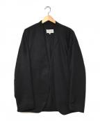 Maison Margiela(メゾンマルジェラ)の古着「ノーカラージャケット」|ブラック