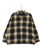 ()の古着「ネルシャツ」 ブラック×イエロー