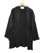 ()の古着「ライトクロスノーカラージャケット」 ブラック