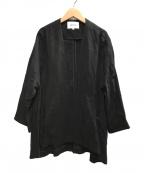 ENFOLD(エンフォルド)の古着「ライトクロスノーカラージャケット」 ブラック