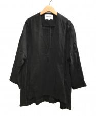ENFOLD (エンフォルド) ライトクロスノーカラージャケット ブラック サイズ:36