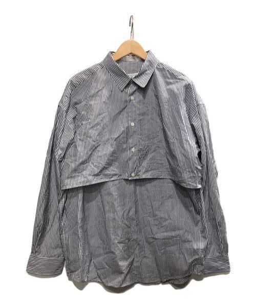 Mr.Gentleman(ミスタージェントルマン)Mr.Gentleman (ミスタージェントルマン) レイヤードシャツ ブルー サイズ:Lの古着・服飾アイテム