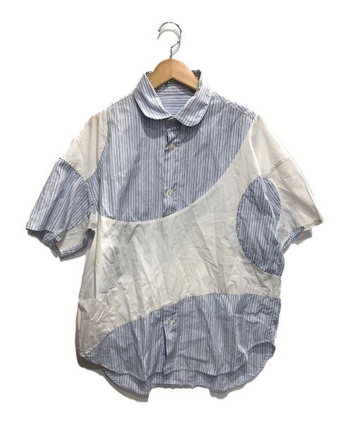 PHINGERIN(フィンガリン)PHINGERIN (フィンガリン) プルオーバーストライプシャツ ブルー×ホワイト サイズ:Fの古着・服飾アイテム
