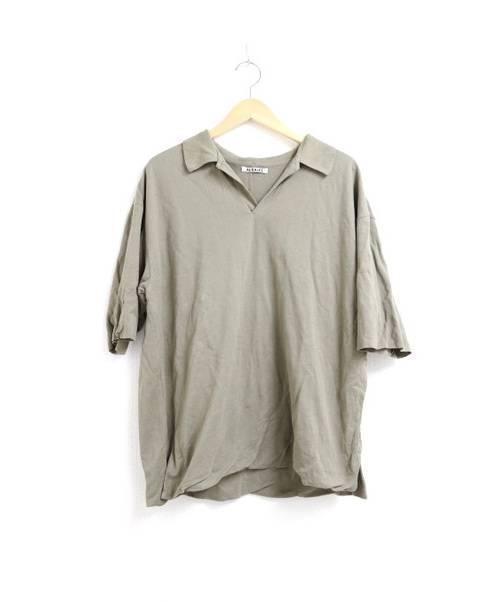AURALEE(オーラリー)AURALEE (オーラリー) HIGH GAUGE PIQUE DOUBLE CLOTH  ベージュ サイズ:3 18SS 定価¥15,120 完売品の古着・服飾アイテム
