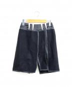 BALENCIAGA(バレンシアガ)の古着「テープデザインウールスカート」|ブラック