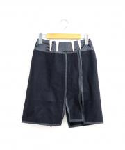 BALENCIAGA(バレンシアガ)の古着「テープデザインウールスカート」 ブラック