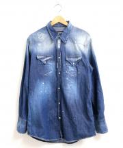 DSQUARED2(ディースクエアード)の古着「デニムシャツ」 ネイビー