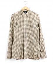 RRL(ダブルアールエル)の古着「チェックシャツ」 ベージュ