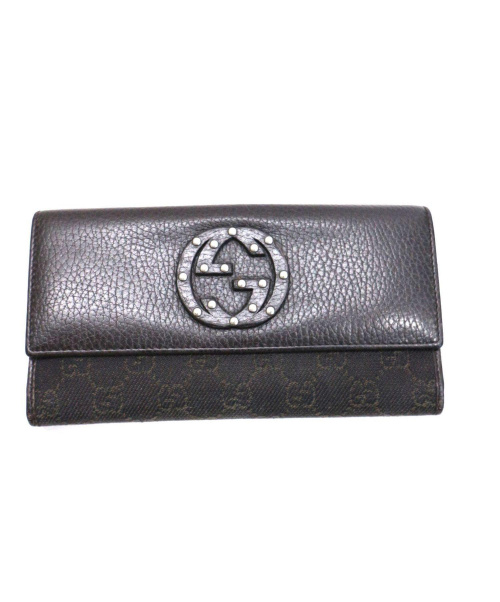 GUCCI(グッチ)GUCCI (グッチ) インターロッキングGWホック長財布の古着・服飾アイテム