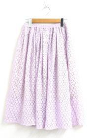 OBLI(オブリー)の古着「レーススカート」