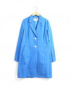 MUVEIL Work(ミュベールワーク)の古着「製品染めコットンチェスターコート」 ブルー