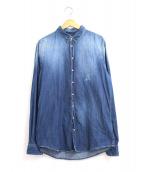 DSQUARED2(ディースクエアード)の古着「ダメージ加工デニムウエスタンシャツ」