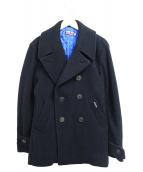 BLUE BLUE(ブルーブルー)の古着「ニットPコート」|ブラック
