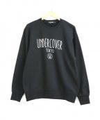 UNDER COVER(アンダーカバー)の古着「プリントロゴスウェット」 ブラック