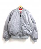 ALPHA(アルファ)の古着「リバーシブルMA-1ジャケット」 グレー×レッド