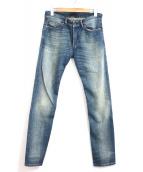 DIESEL BLACKGOLD(ディーゼルブラックゴールド)の古着「ウォッシュ加工デニムパンツ」|インディゴ