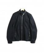 DIESEL BLACKGOLD(ディーゼルブラックゴールド)の古着「スタンドカラーメルトンジャケット」|ブラック