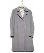 agnes b(アニエスベー)の古着「アンゴラ混チェスターコート」|グレー