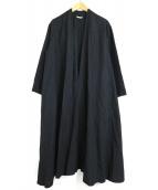 ARTS&SCIENCE(アーツアンドサイエンス)の古着「ガウンコート」|ブラック