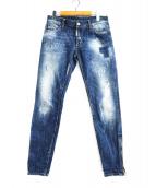 DSQUARED2(ディースクエアード)の古着「ユーズド加工デニムパンツ」|インディゴ
