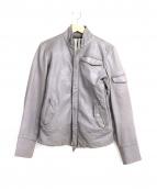 AG(エージ)の古着「シングルライダースジャケット」 グレー