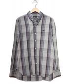 SCYEBASICS(サイベーシックス)の古着「ラミーチェックボタンダウンシャツ」|グレー