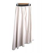 RITO(リト)の古着「アシンメトリーシルクロングスカート」|ベージュ