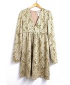 semi-couture(セミクチュール)の古着「ジオメトリック柄ワンピース」