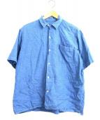 COMOLI(コモリ)の古着「シャンブレーオープンカラーシャツ」 ブルー